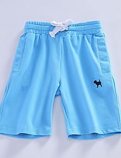billige Bukser og leggings til piger-Geometrisk Trykt mønster Pigens Daglig Sport Bomuld Rayon Sommer Kjole Aktiv Basale Blå Gul Lyseblå Marineblå