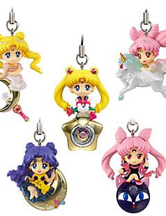 billige Anime cosplay-Anime Action Figurer Inspirert av Sailor Moon Cosplay PVC CM Modell Leker Dukke Herre Dame