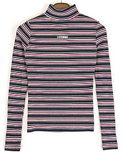 baratos Suéteres de Mulher-Mulheres Moda de Rua Pulôver - Listrado