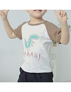 tanie Odzież dla chłopców-Dla chłopców Codzienny Jendolity kolor T-shirt, Poliester Lato Krótki rękaw Urocza Purple Khaki