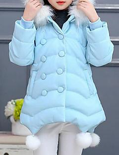tanie Odzież dla dziewczynek-Odzież puchowa / pikowana Poliwęglan Dla dziewczynek Patchwork Zima Jesień Długi rękaw Kreskówka Black Blushing Pink Light Blue