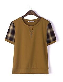 billige Udsalg-T-skjorte Dame - Ruter, Trykt mønster Grunnleggende