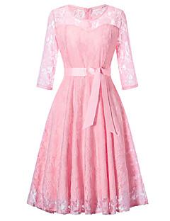billige Vintage-dronning-Dame Vintage / Basale A-linje / Skede Kjole - Ensfarvet, Blonder / Udhulet Knælang