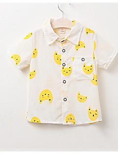 billige Overdele til drenge-Børn Drenge Trykt mønster Kortærmet Skjorte