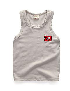 tanie Odzież dla chłopców-Dla chłopców Codzienny Urlop Jendolity kolor Tanktop / koszulka na ramiączkach, Bawełna Poliester Lato Bez rękawów Podstawowy White
