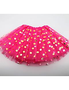 billige Pigenederdele-Ensfarvet Pigens Daglig I-byen-tøj Polyester Sommer Uden ærmer Kjole Sødt Aktiv Rød Lyserød Beige Lilla Rosa