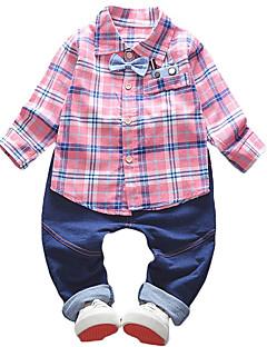 billige Tøjsæt til drenge-Børn Drenge Trykt mønster Langærmet Jakkesæt og blazer