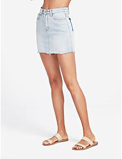 Χαμηλού Κόστους Denim Fashion-Γυναικεία Μολύβι Βασικό Βαμβάκι Μίνι Φούστες - Μονόχρωμο