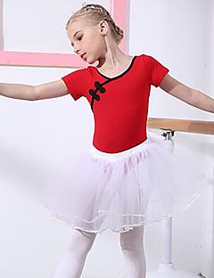 tanie Stroje baletowe-Balet Stroje Dla dziewczynek Szkolenie / Wydajność Bawełna Koronka Krótki rękaw Naturalny Spódnice / Trykot opinający ciało / Śpiochy dla dorosłych