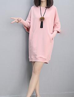 tanie Damskie bluzy z kapturem-Damskie Podstawowy Moda miejska Bluzy - Jendolity kolor