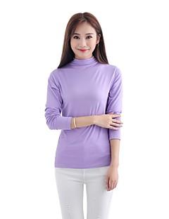 billiga Mammakläder-Enfärgad T-shirt-Vintage Grundläggande Dam