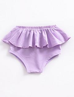 billige Bukser og leggings til piger-Ensfarvet Pigens Daglig Polyester Sommer Kjole Sødt Sort Lyserød Lilla Gul Vin