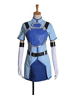 """billige Anime cosplay-Inspirert av Sword Art Online Cosplay Anime  """"Cosplay-kostymer"""" Cosplay Klær Annen Kortermet Frakk Skjørte Hansker Mer Tilbehør Midjebelte"""