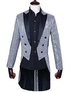 billige Herremote og klær-Paljetter Blazer - Fargeblokk Enkel Herre