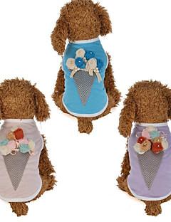 billiga Hundkläder-Hund Katt Väst Hundkläder Blomma Glass Purpur Rosa Bomull / Polyester Kostym För husdjur Dam Blom Ledigt / vardag