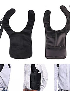 cheap Backpacks & Bags-Shoulder Bag Hiking Camping Travel Anatomic Design Anti-theft Lightweight Nylon Black
