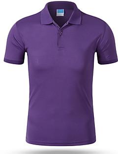 お買い得  メンズポロシャツ-男性用 Polo ビジネス ストリートファッション シャツカラー スリム ソリッド