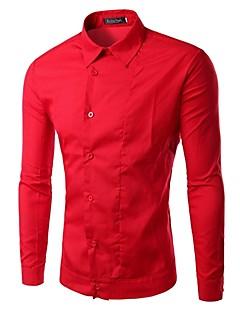 billige Herremote og klær-Skjorte Herre - Ensfarget Grunnleggende