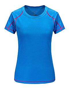 baratos Camisetas para Trilhas-Mulheres Camiseta de Trilha Ao ar livre Verão Secagem Rápida, Respirabilidade, Redutor de Suor Camiseta N / D Acampar e Caminhar, Exercicio Exterior, Multi-Esporte Verde Azul Rosa claro