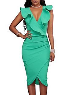 cheap Women's Fashion & Clothing-Women's Cute Bodycon Sheath Dress - Solid Colored