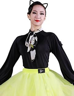 tanie Stroje do tańca latino-Taniec latynoamerykański Body Damskie Szkolenie Lodowy jedwab Bandażowe Długi rękaw Trykot opinający ciało / Śpiochy dla dorosłych