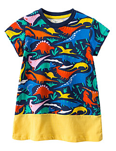 billige Babykjoler-baby pige geometriske kjole, polyester sommer korte ærmer sort 80 130 120 110 100