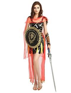 billige Halloweenkostymer-Soldat / Kriger Kostume Unisex Halloween Halloween Karneval Barnas Dag Festival / høytid Halloween-kostymer Drakter Svart Ensfarget Halloween