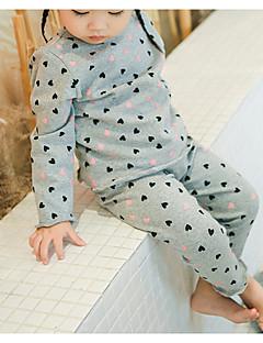 billige Undertøj og sokker til piger-Pige Nattøj Blomstret, Bomuld Langærmet Normal Grå Gul