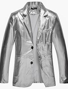 billige Herremote og klær-Paljetter Blazer - Ensfarget Punk & Gotisk Herre