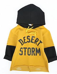 billige Hættetrøjer og sweatshirts til drenge-Børn Drenge Ensfarvet 3/4-ærmer Hættetrøje og sweatshirt