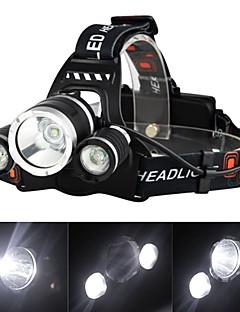 povoljno finalno sniženje-Svjetiljke za glavu Svjetlo za bicikle LED Cree XM-L T6 3 emiteri 3000 lm 4.0 rasvjeta mode s punjačem Može se puniti, štrajk oštrica Kampiranje / planinarenje / Speleologija, Putovanje