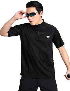 tanie Koszulki turystyczne-Męskie Tričko na turistiku Na wolnym powietrzu Fast Dry Quick Dry Odvádí pot Oddychalność T-shirt N / Camping & Turystyka Outdoor