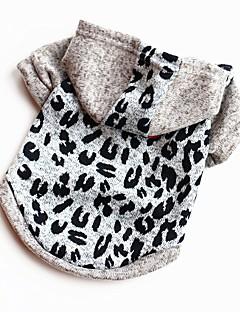 billiga Hundkläder-Hund / Katt / Husdjur Tröja / Väst Hundkläder Mönstrad / Figur / Citat och ordspråk Leopard Cotton Kostym För husdjur Herr Ledigt /