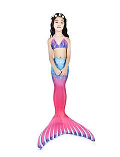 billige Halloweenkostymer-The Little Mermaid Badetøy / Bikini / Kostume Dame Halloween / Karneval Festival / høytid Halloween-kostymer Lys Lilla Vintage Havfrue og Trompet Kjole Slip / Bikini