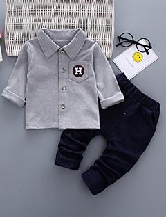 billige Tøjsæt til piger-Baby Unisex Ensfarvet Langærmet Tøjsæt