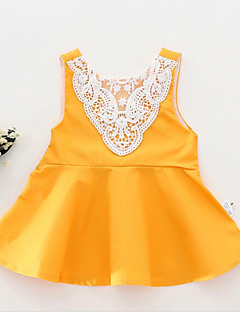 billige Babytøj-Baby Pige Ensfarvet Uden ærmer Bluse