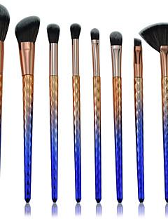 billiga Sminkborstar-8pcs Makeupborstar Professionell Borstsatser Nylon fiber Miljövänlig / Färgskiftande Plast
