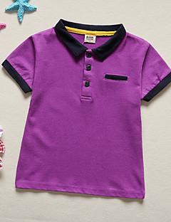 billige Overdele til drenge-Baby Drenge Ensfarvet Kortærmet T-shirt
