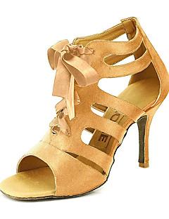 Χαμηλού Κόστους Ξεπούλημα Γάμοι & Εκδηλώσεις-Γυναικεία Αίθουσα χορού / Παπούτσια σάλσα Σατέν Πέδιλα Αγκράφα Εξατομικευμένο Παπούτσια Χορού Κίτρινο / Φούξια / Μωβ