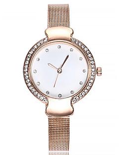 billige Armbåndsure-Dame Armbåndsur Kinesisk Kronograf / Imiteret Diamant Legering Bånd Mode / Armring Sort / Sølv / Rose Guld