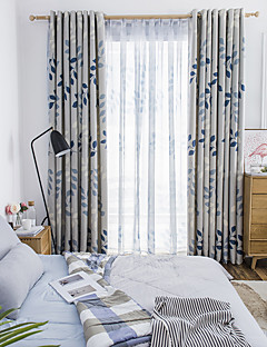 Blackout Curtains Drapes Bedroom Floral Polyester Blend Printed