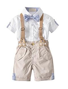 levne Chlapecké oblečení-Toddler Chlapecké Jednobarevné Krátký rukáv Sady oblečení