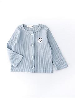 billige Babytøj-Baby Pige Ensfarvet Langærmet Jakke og frakke