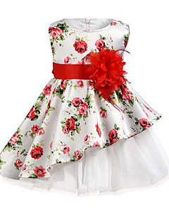 billige Pigekjoler-Børn Pige Blomstret Uden ærmer Kjole