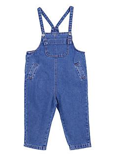 billige Bukser og leggings til piger-Børn Pige Ensfarvet Overall og jumpsuit