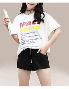 billige T-shirt-kvinders t-shirt - brev rundt hals