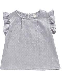 billige Pigetoppe-Børn Pige Ensfarvet Uden ærmer T-shirt