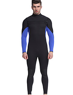 お買い得  ウェットスーツ/ダイビングスーツ/ラッシュガードシャツ-MYLEDI 男性用 フルウェットスーツ 3mm ネオプレン ダイビングスーツ 保温 長袖 バックファスナー - 水泳 / 潜水 / サーフィン