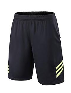 billige Løbetøj-BARBOK Unisex Løbeshorts - Sort / Hvid, Sort / Grøn, Sort / Blå Sport Ensfarvet Shorts Sportstøj Hurtigtørrende, Åndbarhed, Strækkende