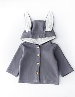 billige Overtøj til babyer-Baby Pige Ensfarvet Patchwork Langærmet Jakkesæt og blazer